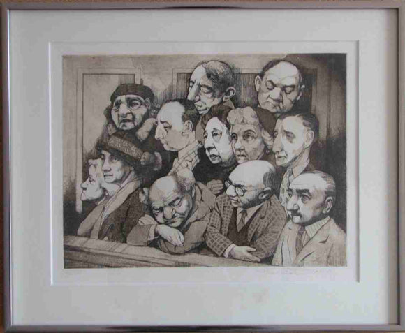 The Jury (Framed Lithograph Numbered & Signed) 32/150