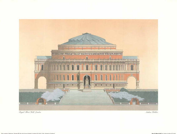 Royal Albert Hall by Andras Kaldor - 12 X 16 Inches (Art Print)