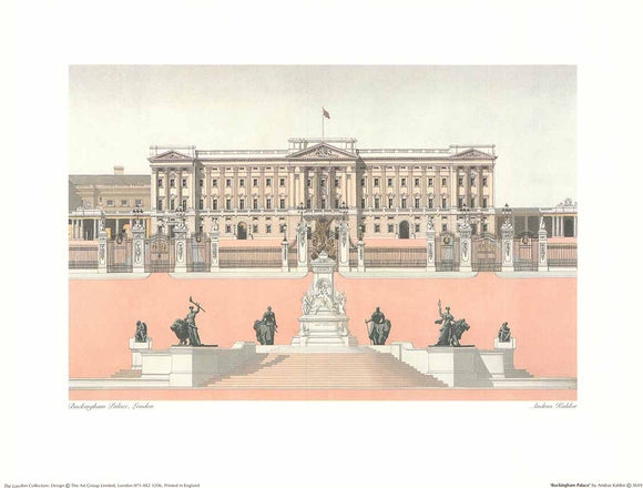 Buckingham Palace by Andras Kaldor - 12 X 16 Inches (Art Print)