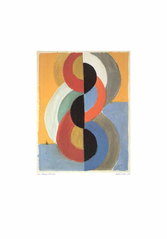 Rythme Couleur, 1961 by Sonia Delaunay - 20 X 28 Inches (Art Print)