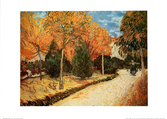 Autumn Garden by Vincent Van Gogh - 20 X 28 Inches - Fine Art Poster.