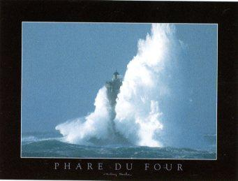 Phare du Four by Valéry Hache - 24 X 32