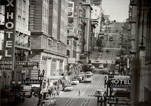 View of Powell Street in San Francisco, California, USA, 1953