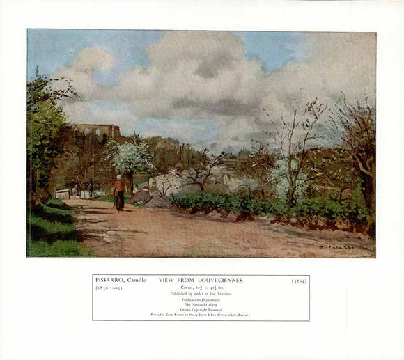 View from Louveciennes by Pissarro - 10 X 12 Inches - Fine Art Poster.
