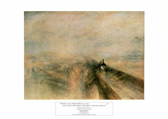 Rain, Steam and Speed - The Great Western Railway by Joseph Turner - 14 X 20
