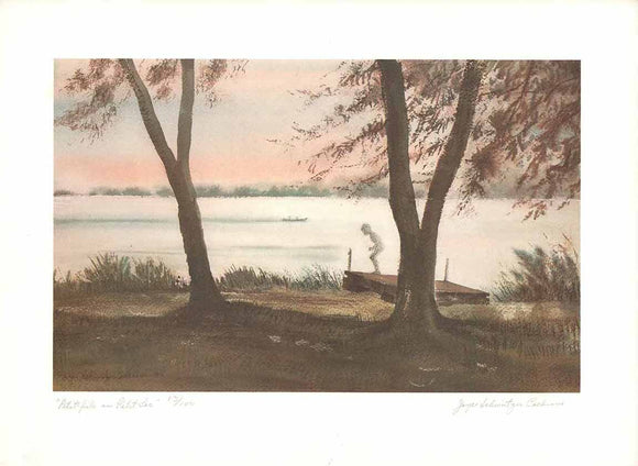 Petit-Fils Au Petit Lac (Etching Numbered & Signed) 13/100
