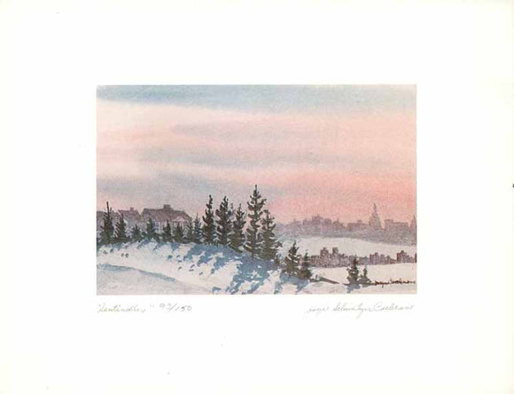 Sentinelles by Joyce Schweitzer Cochrane (Watercolour Numbered & Signed) 93/150 - 8 X 11