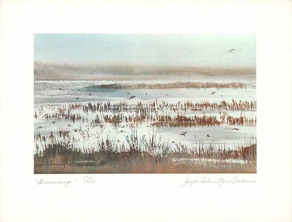 Amerrissage (Watercolour Numbered & Signed) 11/40
