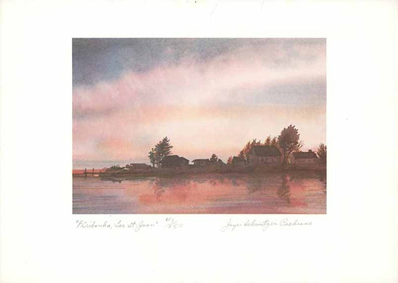Peribouka, Lac St-Jean (Watercolour Numbered & Signed) 40/150