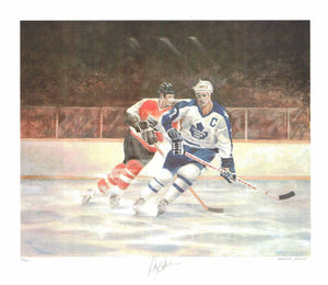 Darryl Sittler Toronto Maple Leafs by Mervyn Scoble (Lithograph Numbered & Signed by Sittler) 43/500