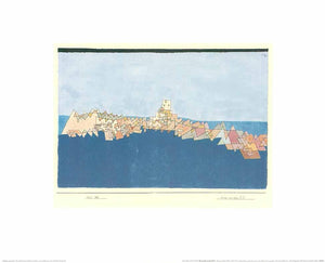 "The Castle on the Reef by Paul Klee - 16 X 20"" - Fine Art Poster."