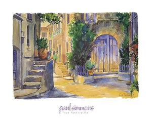 "Rue Fontvieille by Paul Simmons - 16 X 20"" - Fine Art Posters."