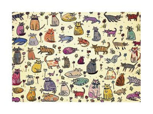 "51 Cats by Sarah Battle - 12 X 16"" - Fine Art Posters."