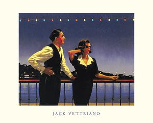 "Midnight Blue by Jack Vettriano - 16 X 20"" - Fine Art Posters."