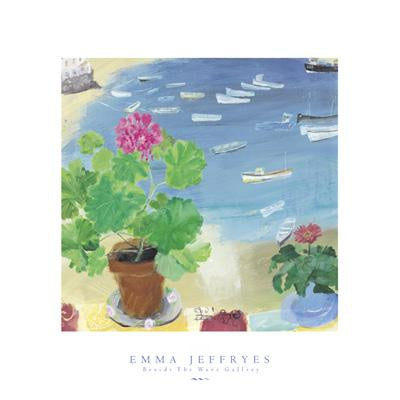 Geraniums Overing Harbour by Emma Jeffryes - 16 X 16