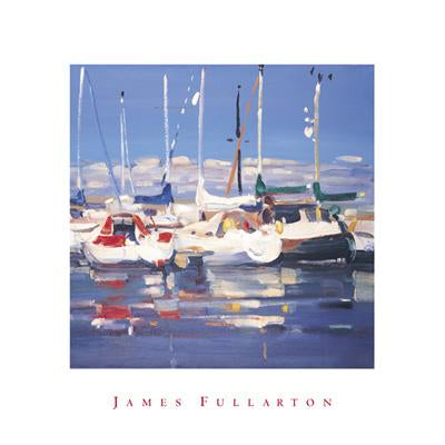 Troon Marina by James Fullarton - 16 X 16 inches - Fine Art Poster.