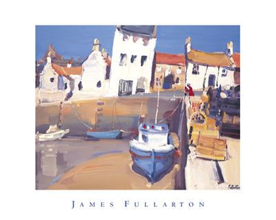 Lobster Pots, Crail Harbour by James Fullarton - 16 X 20