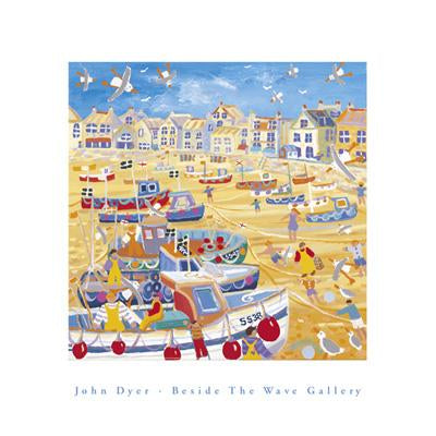 Boats and Ropes by John Dyer - 16 X 16