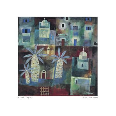 Two Minarets by Frank Taylor - 16 X 16