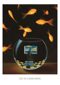 "Life in a Wish Bowl by Samy Charnine - 24 X 34"" - Fine Art Posters."