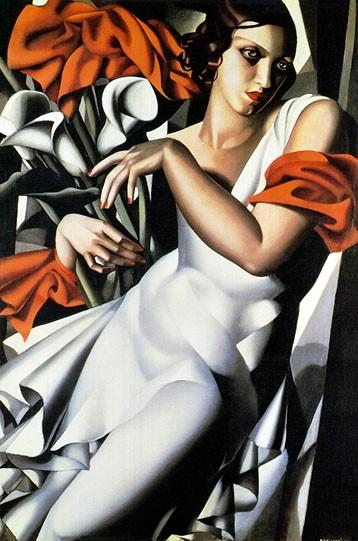 Portrait of Mrs. Ira Perrot, 1930 by Tamara de Lempicka - 24 X 36