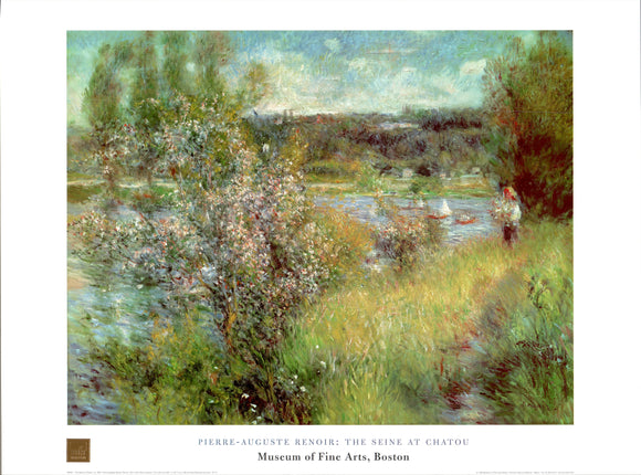 The Seine at Chatou by Pierre-Auguste Renoir - 24 X 32 Inches - Fine Art Poster.