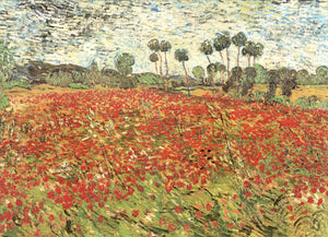 "Field of Poppies by Vincent Van Gogh - 20 X 28"" - Fine Art Poster."