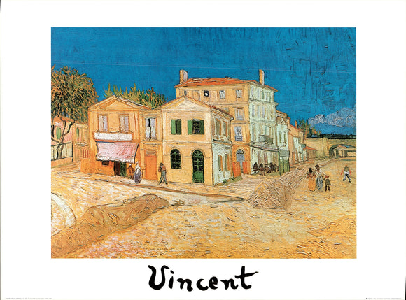 The Gialla House - Arles, 1889 by Vincent Van Gogh - 24 X 32 Inches - Fine Art Poster.