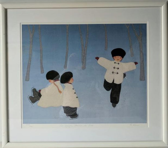 Le Fragile Chemin du Reve - (Framed Lithograph with Matte Numbered & Signed) 278/450