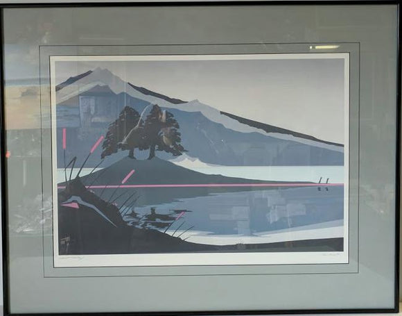 Secret Valley I - (Metal Frame - Offset Lithograph with Matte & Glass)