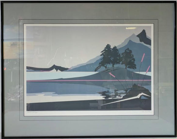 Secret Valley II - (Metal Frame - Offset Lithograph with Matte & Glass)