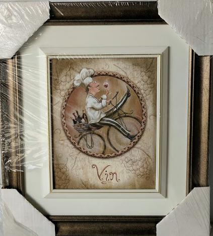 Vin - (Framed Giclee on Masonite Ready to Hang)