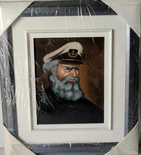 Captain  - (Framed Giclee on Masonite Ready to Hang)