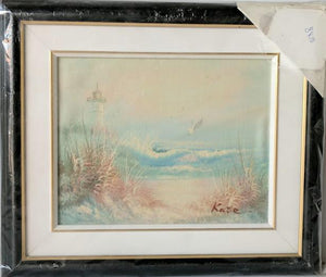 Coastal - (Framed Oil Painting on Masonite Ready to Hang)