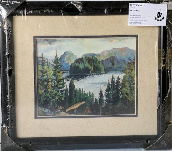 Landscape - (Framed Art Print with Double Matte and Glass Ready to Hang)