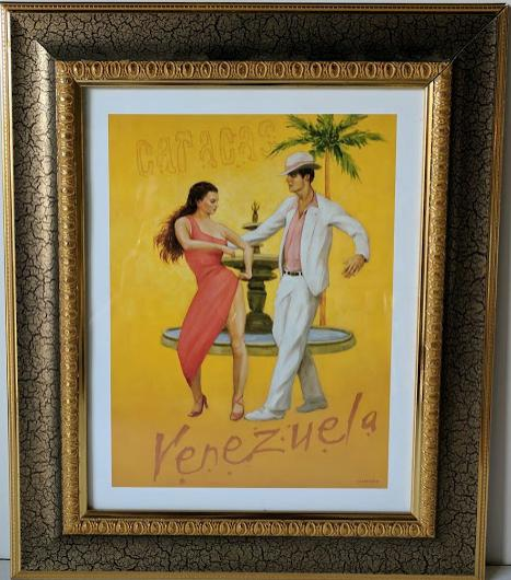 Venezuela - (Framed Art Print with Glass Ready to Hang)
