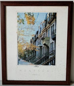 Avenue Laval, Automne - (Framed Giclee on Masonite Ready to Hang)