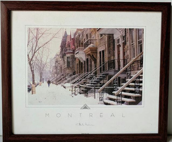 Avenue Laval, Hiver - (Framed Giclee on Masonite Ready to Hang)