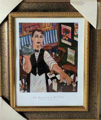 Le Garcon a Renoux  - (Framed Art Print with Glass Ready to Hang)