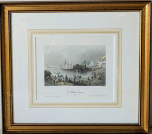 Fish-Market, Toronto, 1841 - (Framed Art Print with Matte and Glass Ready to Hang)