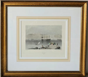 Quebec, 1840 - (Framed Art Print with Matte and Glass Ready to Hang)
