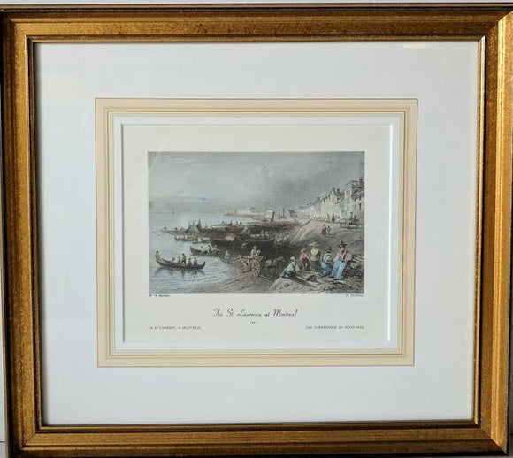 The St. Laurence, at Montreal, 1841 - (Framed Art Print with Matte and Glass Ready to Hang)
