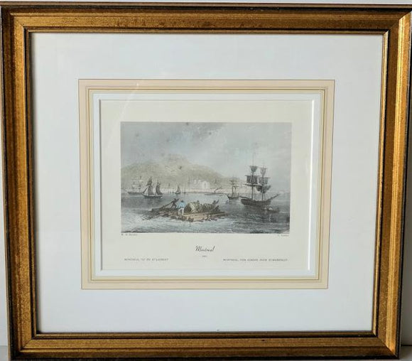 Montreal, 1841 - (Framed Art Print with Matte and Glass Ready to Hang)