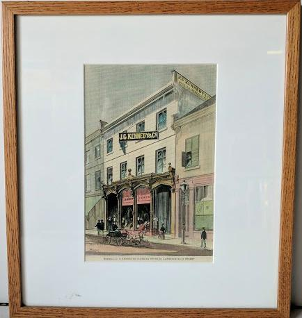 J.G. Kennedy's Clothing Store - St. Lawrence Main Street (Montreal) - (Framed Art Print with Matte and Glass Ready to Hang)