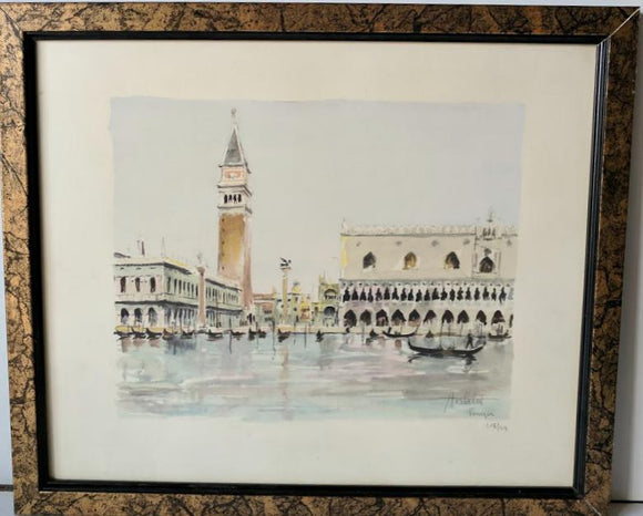Venezia - (Framed Lithograph with Glass Numbered & Signed) 49/108
