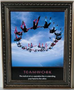 Team Work - (Framed Giclee on Masonite Ready to Hang)