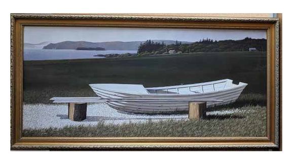 Boat - (Framed Giclee on Masonite Ready to Hang)