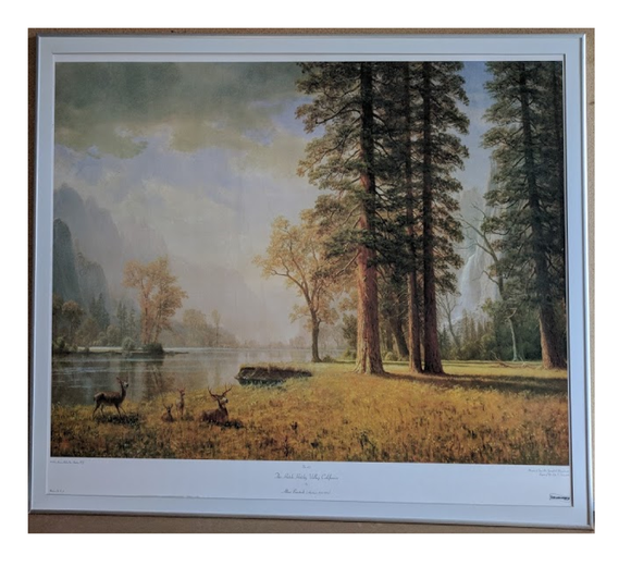 The Hetch Hetchy Valley, California - (Framed Giclee on Masonite Ready to Hang)