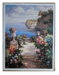 Tranquil Overlook - (Framed Giclee on Masonite Ready to Hang)