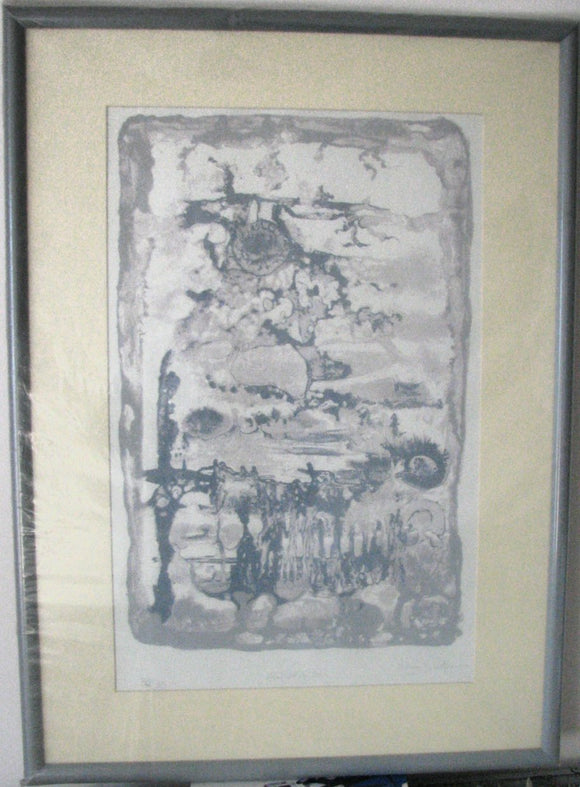 Aquarius - (Framed Serigraph Titled Numbered & Signed) 32/35
